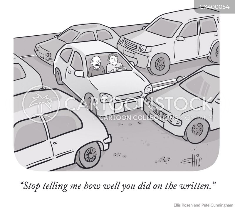 Driving Test Cartoons and Comics - funny pictures from CartoonStock