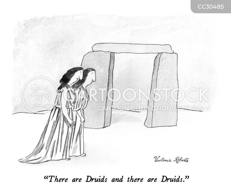 Druids cartoon