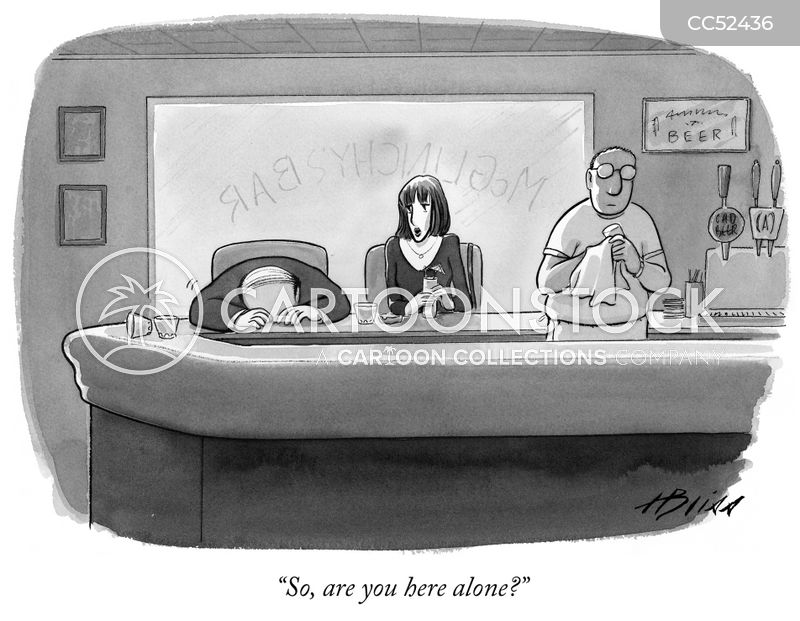 loneliness cartoon