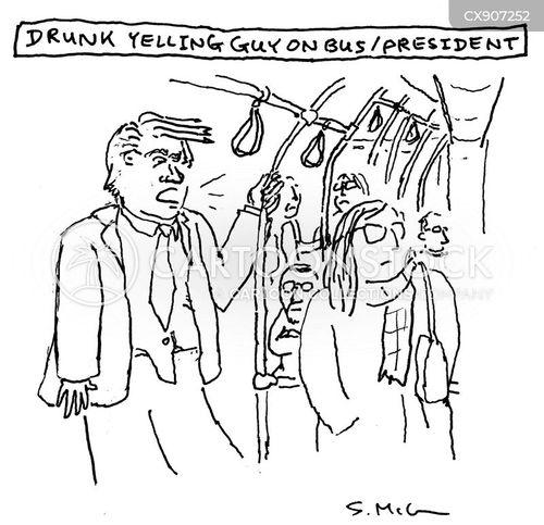 yelling cartoon
