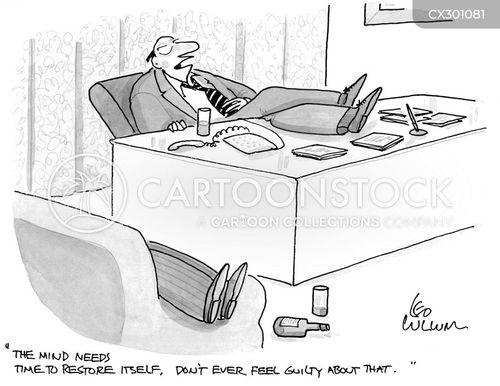 drinking on the job cartoon