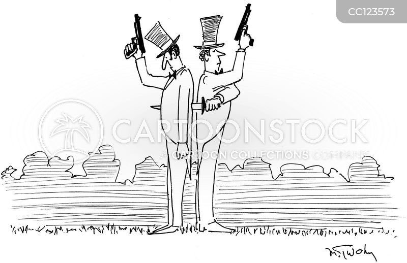 duelling cartoon