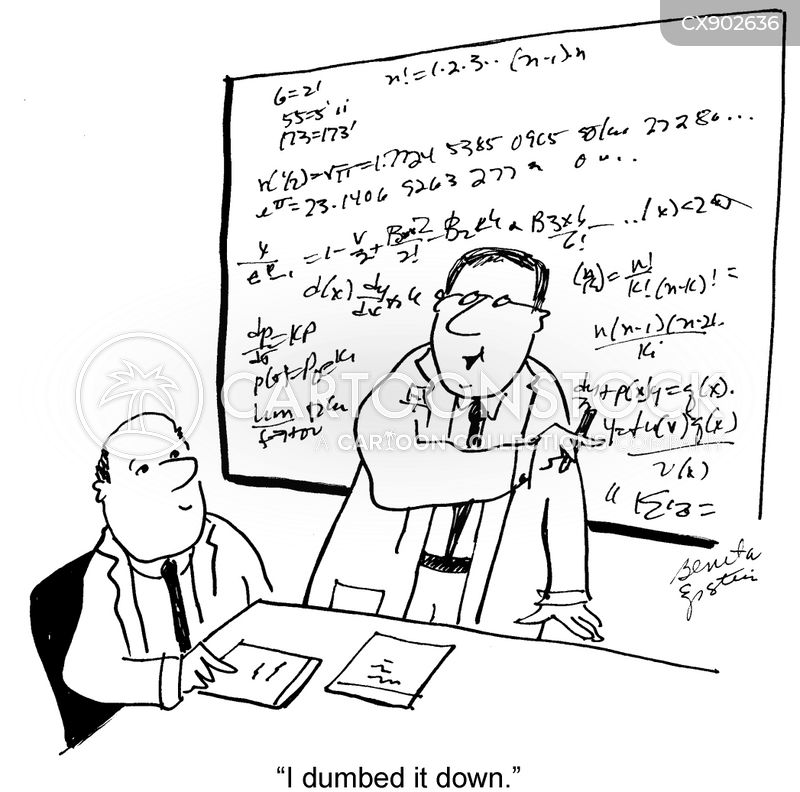 dumbing down cartoon