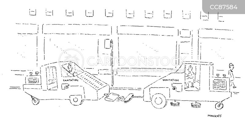 street sweepers cartoon