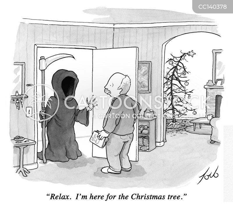 visit from death cartoon
