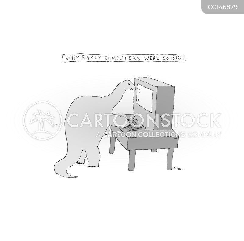 old computer cartoon