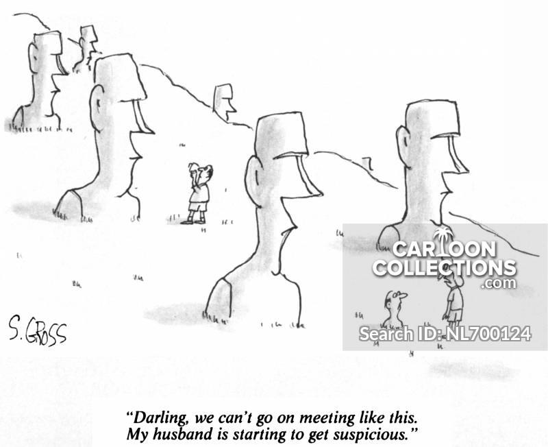 easter island heads cartoon