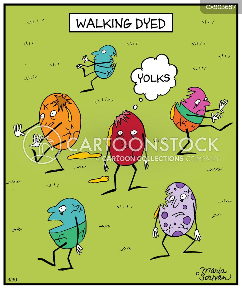 easter eggs cartoon