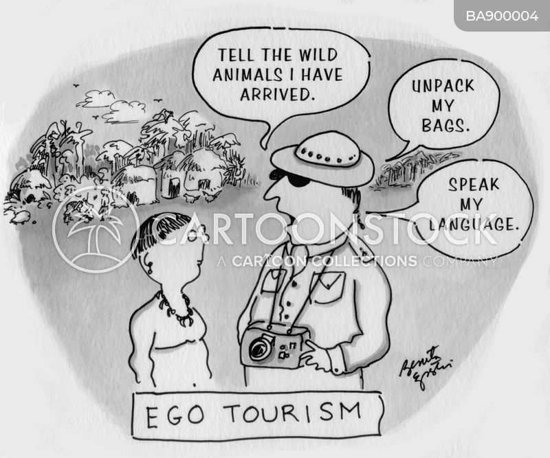tourist destination cartoon