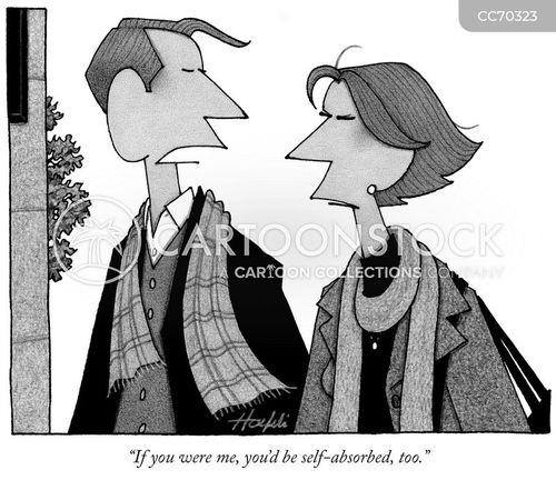 egocentric cartoon