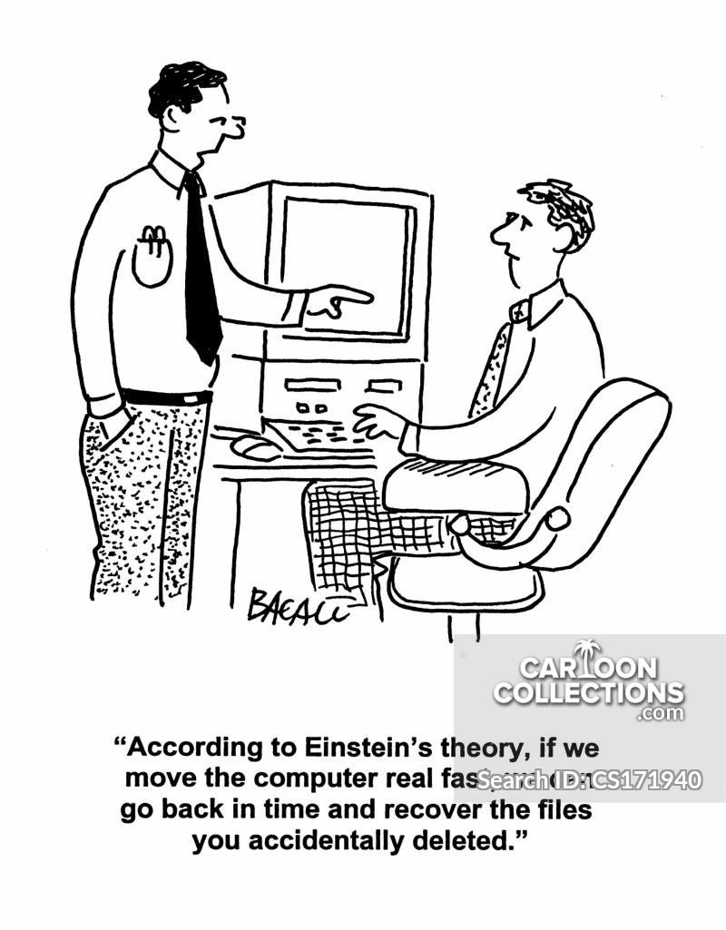 computer mistake cartoon