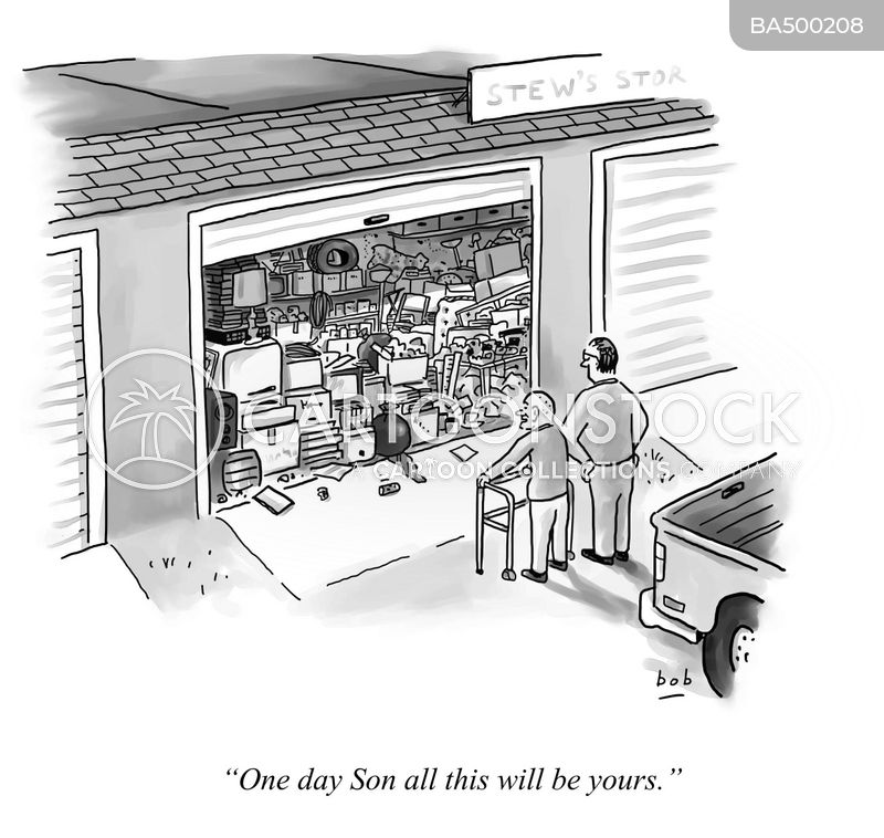 storage units cartoon