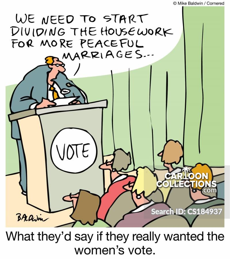 Women Voting cartoon