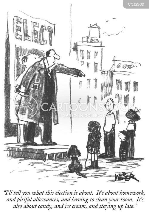 election campaign cartoon