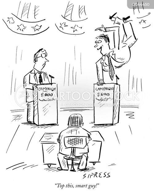 political debate cartoon