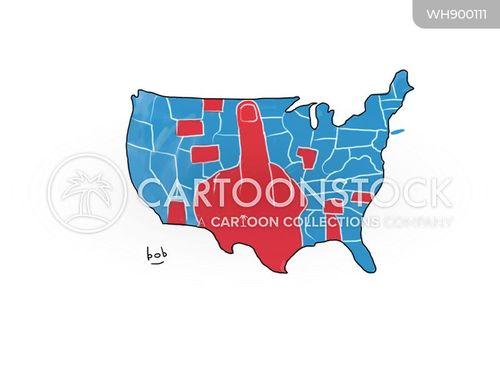 red states cartoon