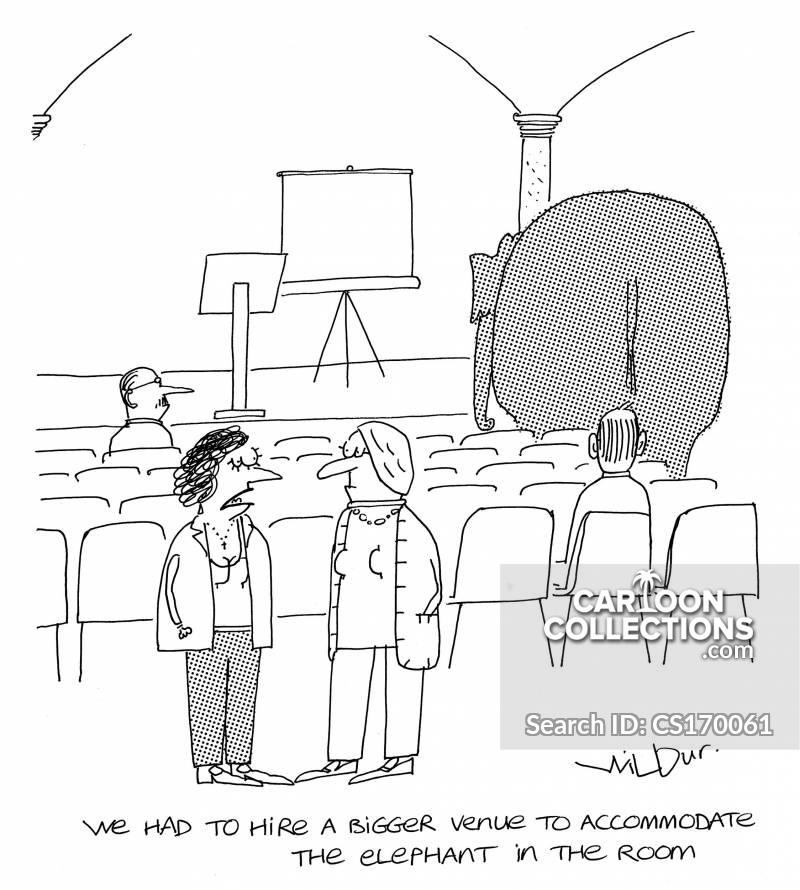 venue hire cartoon