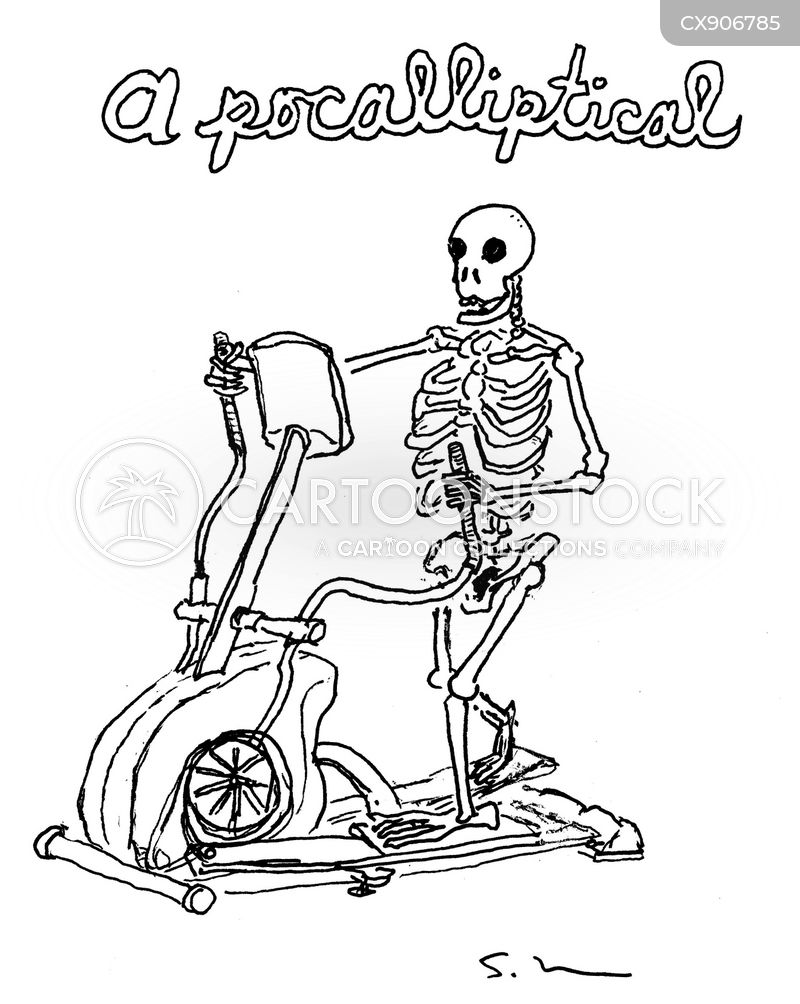 exercise machine cartoon