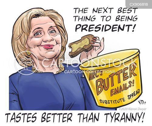 email scandals cartoon