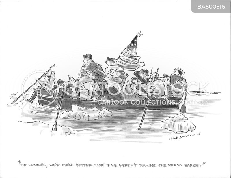 washington crossing the delaware cartoon