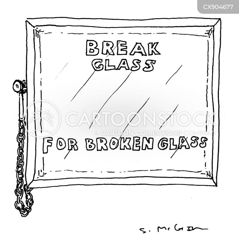 broken glass cartoon