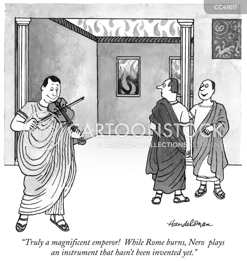 rome burned cartoon