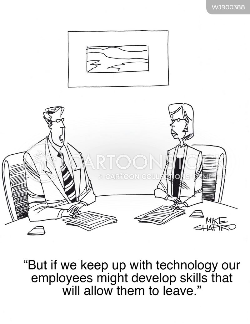 old technology cartoon