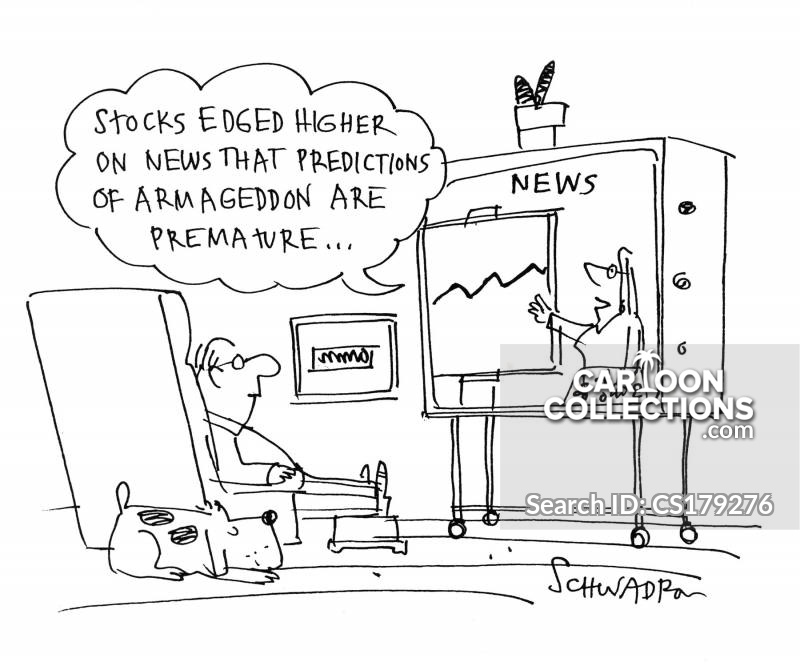 Rising Shares cartoon