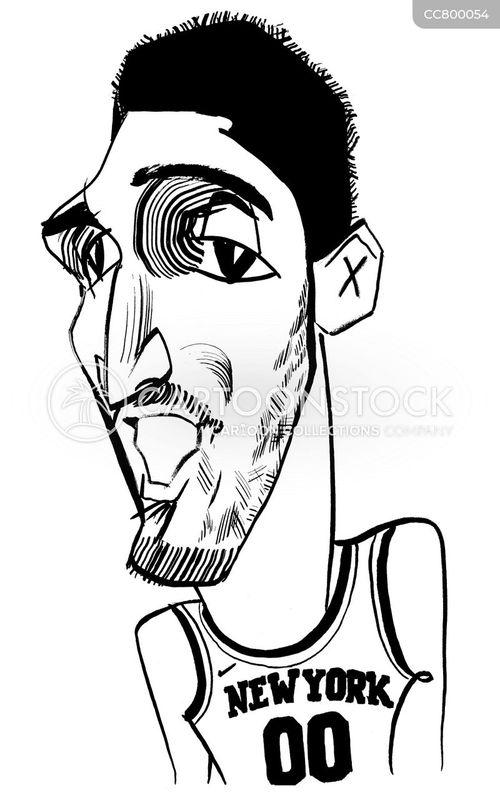basketball players cartoon