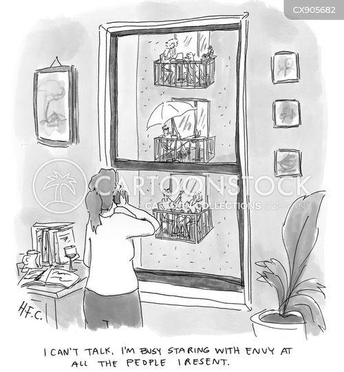 small flats cartoon