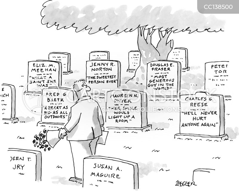 gravestone inscription cartoon
