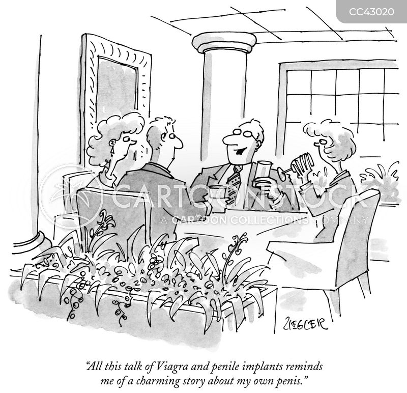 dinner party cartoon