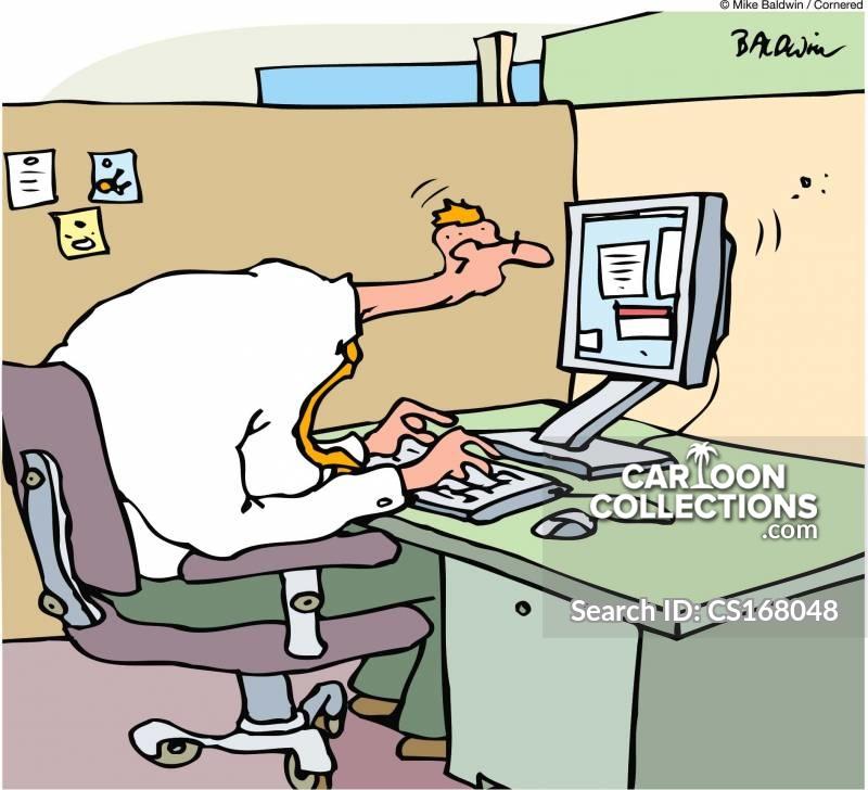computer ergonomics cartoon