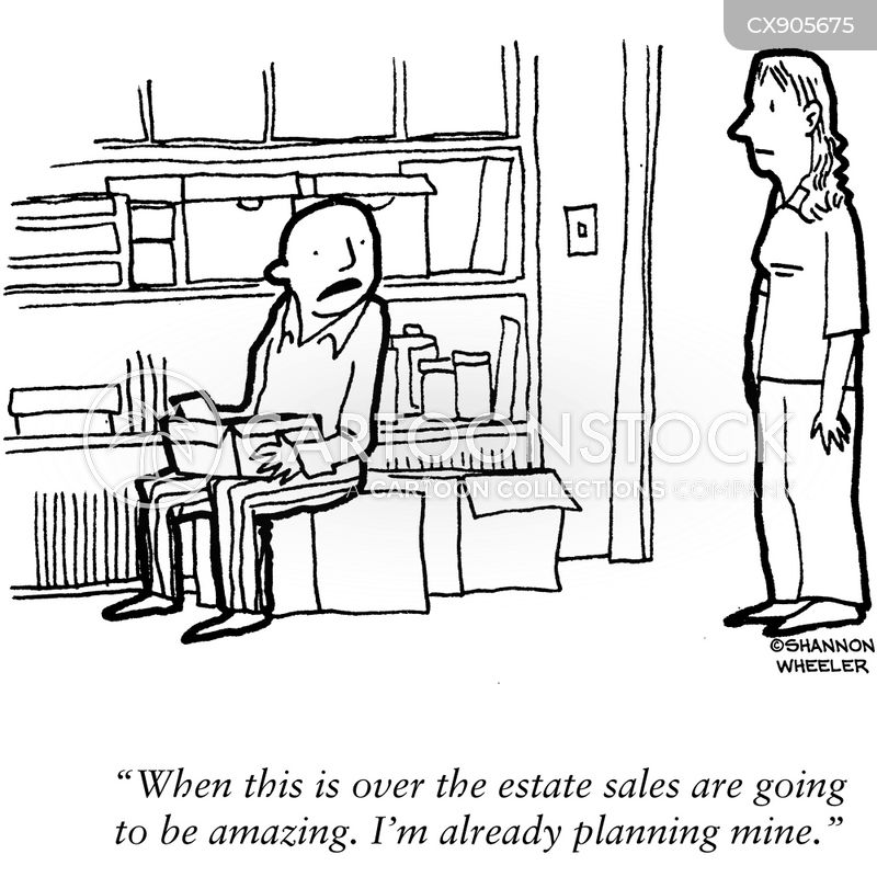 tag sales cartoon