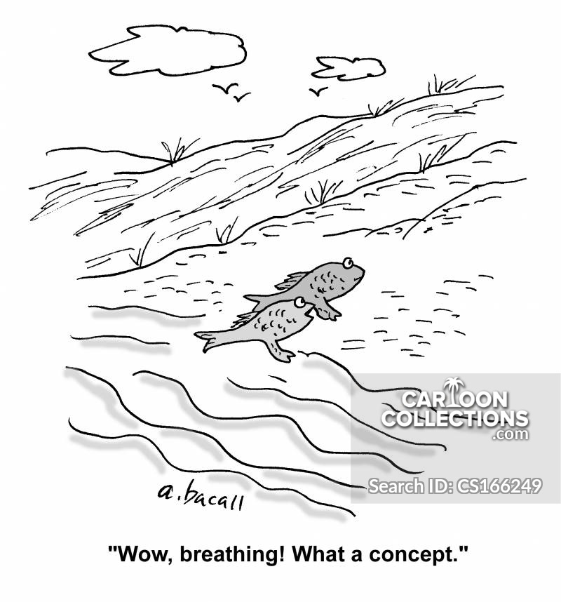 Respiration cartoon