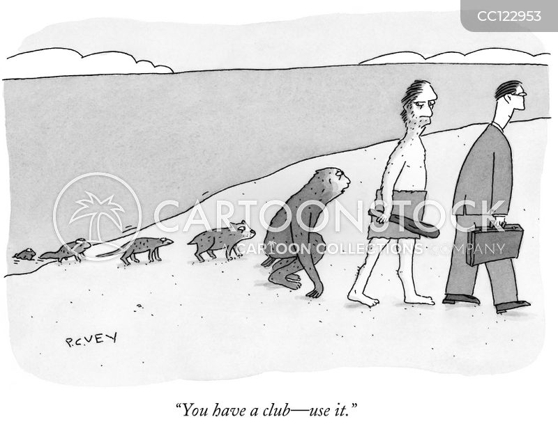darwinian cartoon
