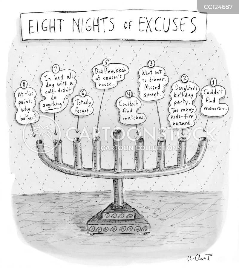 eight nights cartoon