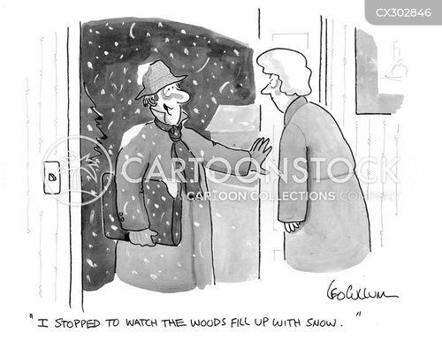 snowy cartoon