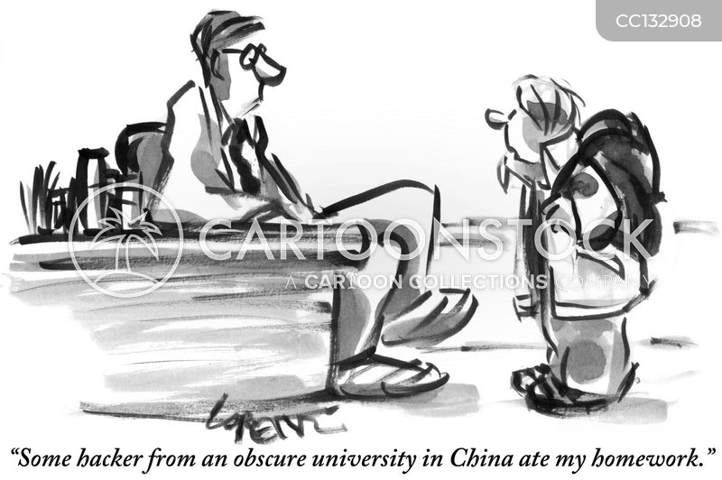 students cartoon
