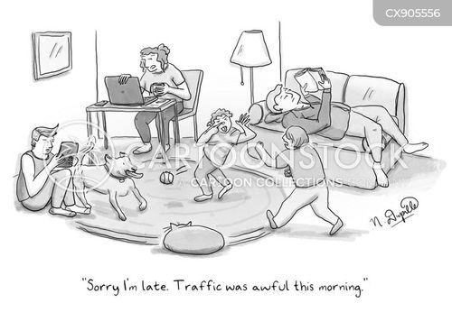 running late cartoon