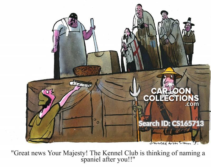 king charles spaniel cartoon