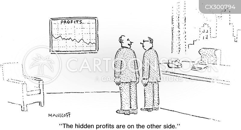 Profit And Loss cartoon