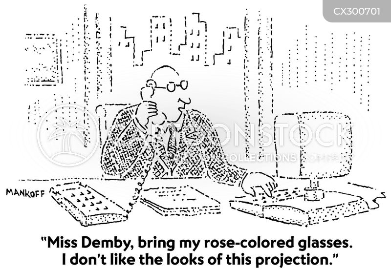 Rose Tinted Spectacles cartoon