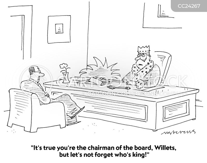 business managers cartoon