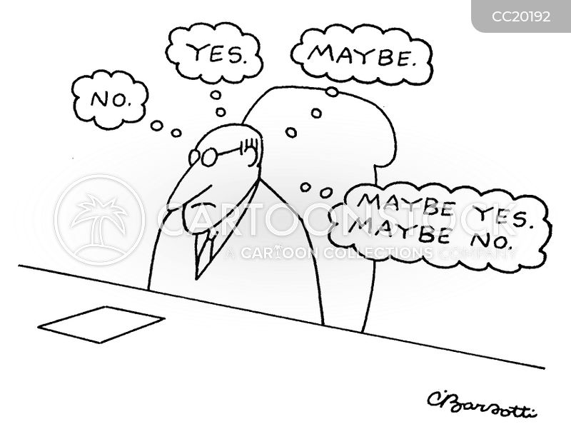 Indecisive cartoon