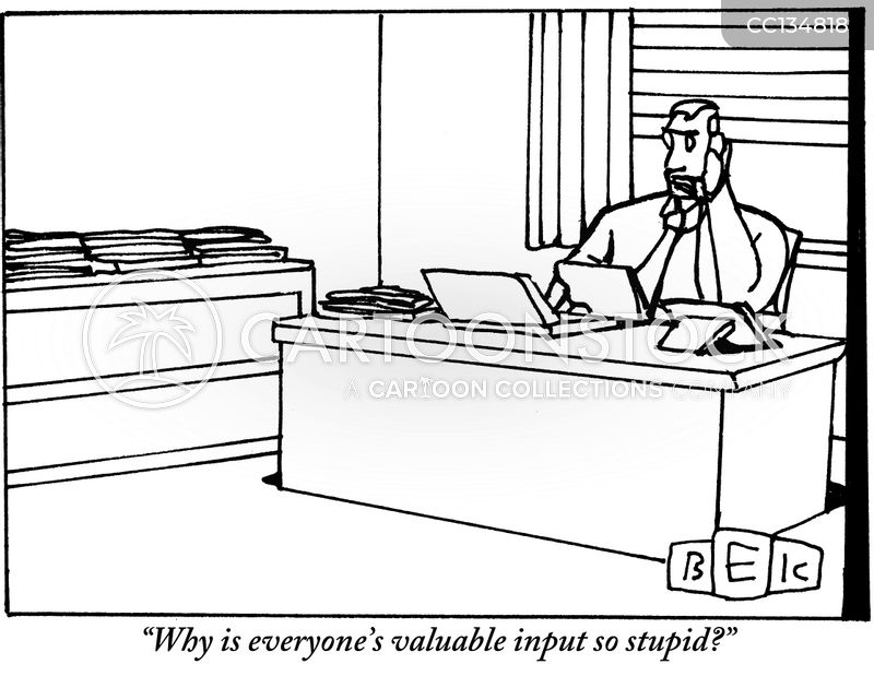valuable input cartoon