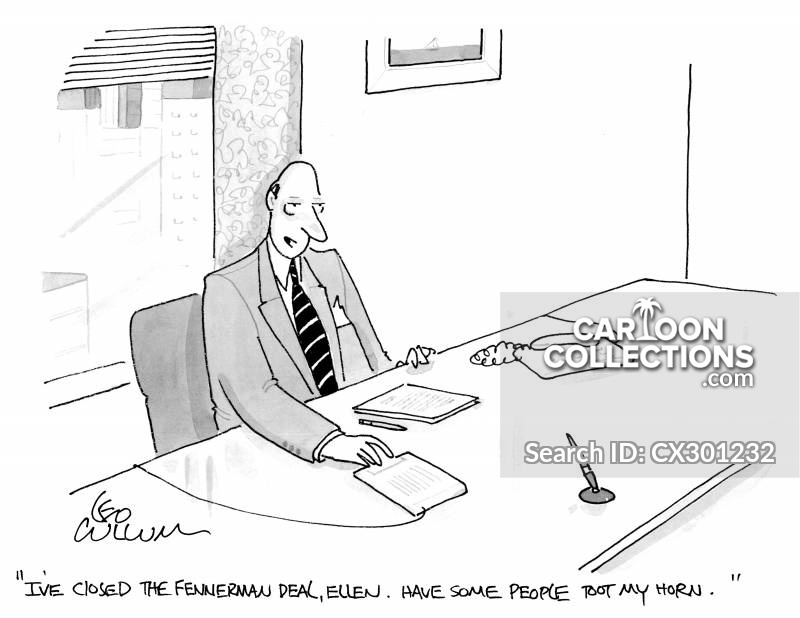 Closing Deals cartoon