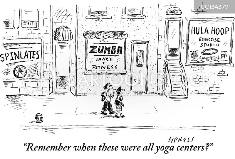 exercise classes cartoon