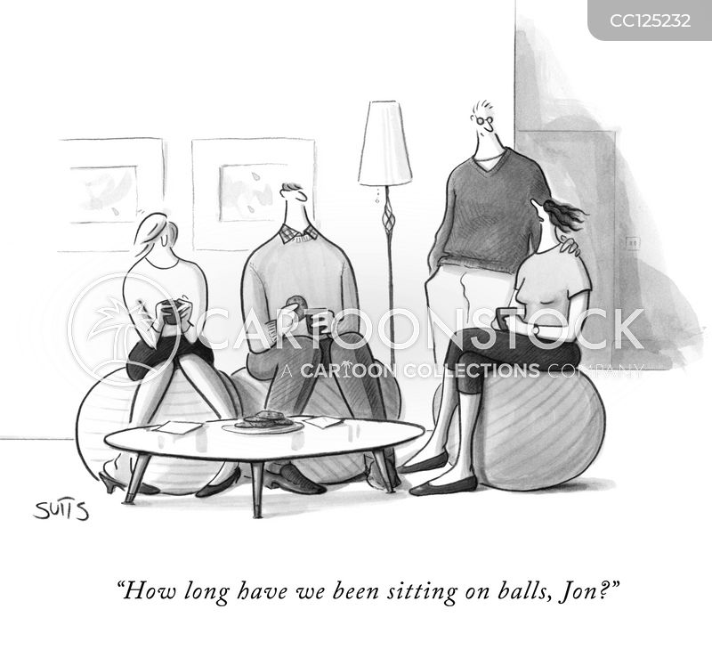 sit down cartoon