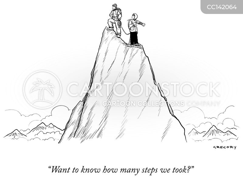 step counter cartoon